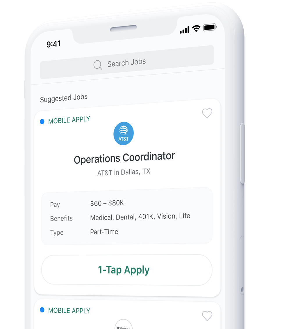 Ziprecruiter app homepage