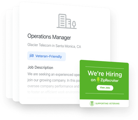 Job postings for veteran-friendly jobs