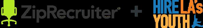 ZipRecruiter plus HireLA Youth logo