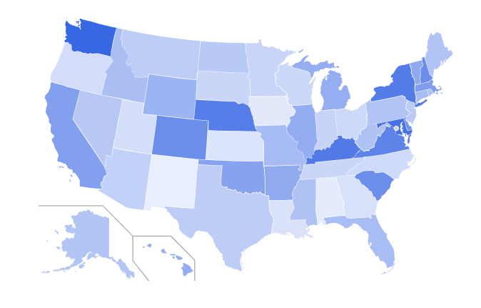 Full Charge Bookkeeper Salaries by State