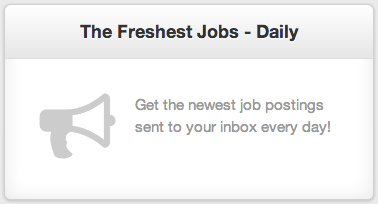 Sign Up for ZipRecruiter Job Alerts