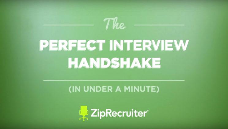 The Perfect Interview Handshake