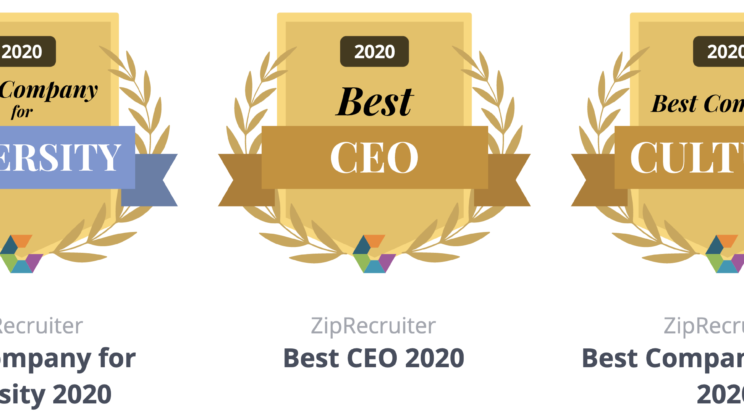 ZipRecruiter Wins Three 2020 Comparably Awards