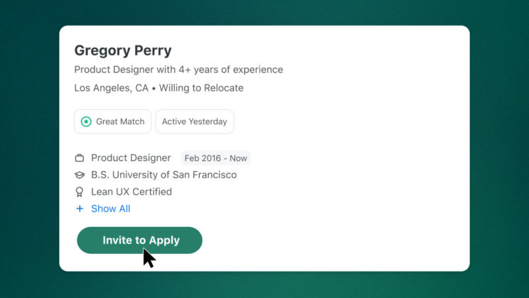 ZipRecruiter's 'Invite to Apply' Generates 2.5 Times as Many Candidates per Job