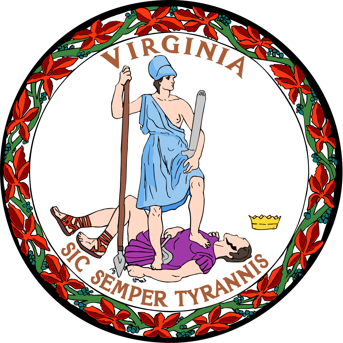 Virginia State Government's logo