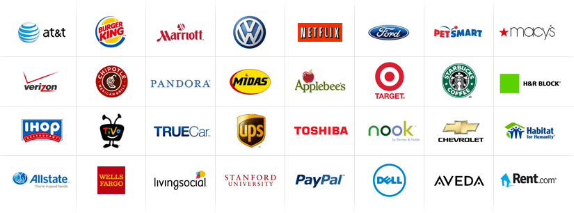 logos of companies with job postings on ZipRecruiter